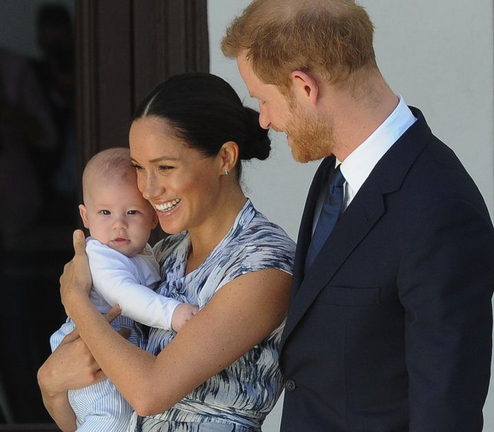 Prince Harry and his wife Meghan Markle with their son Archie in Cape Town, South Africa on Sept. 25, 2019.