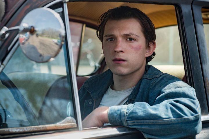 "Tom Holland in ""The Devil All the Time"" on Netflix."