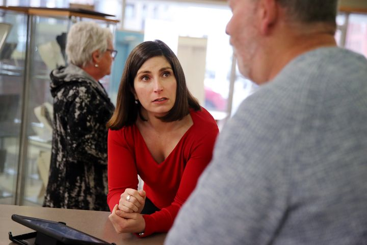 Some progressive groups are trying to rally around Jesse Mermell, a former top aide to Gov. Deval Patrick, to block moderate candidate Jake Auchincloss in the Democratic primary in Massachusetts' 4th Congressional District.