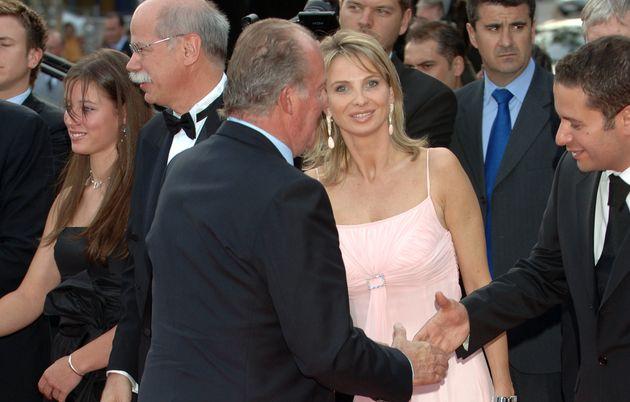 Juan Carlos I junto a su examante Corinna Larsen en Barcelona en