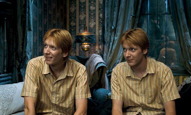 Fred y George Weasley en 'Harry