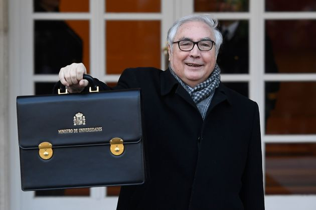 Manuel Castells, el pasado 14 de enero, en la primera reunión del Consejo de Ministros del