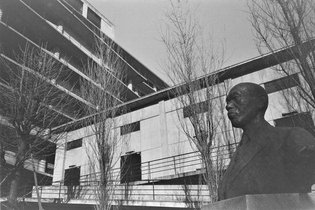 資料写真:法政大学=東京都千代田区富士見(撮影日:1963年1月)