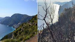 Agerola chiude il sentiero degli Dei: gli incendi hanno devastato il percorso