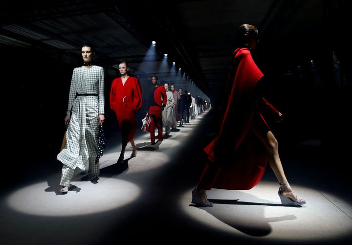 Kaia Gerber and other models present creations by designer Clare Waight Keller as part of her Fall/Winter 2020/21 women's ready-to-wear collection show for fashion house Givenchy during Paris Fashion Week in Paris, France, March 1, 2020. REUTERS/Gonzalo Fuentes TPX IMAGES OF THE DAY