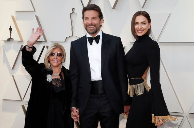 Bradley Cooper arrives with his mother Gloria and Irina Shayk at the 2019 Academy