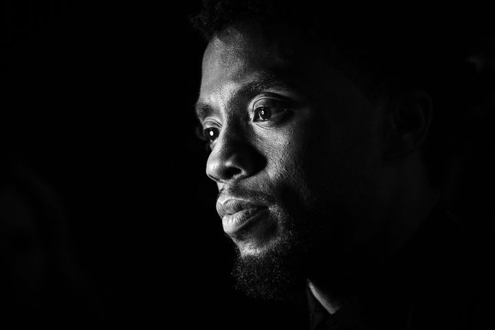 Chadwick Boseman in 2018. He died on Friday.