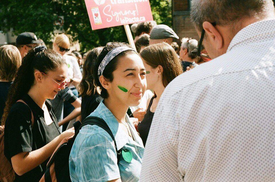 Isabelle Grondin-Hernandez lors de la marche pour le climat de Montréal le 27 septembre