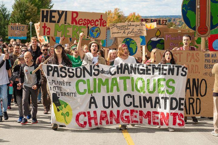 Marche pour le climat à Sherbrooke, 27 septembre 2019.