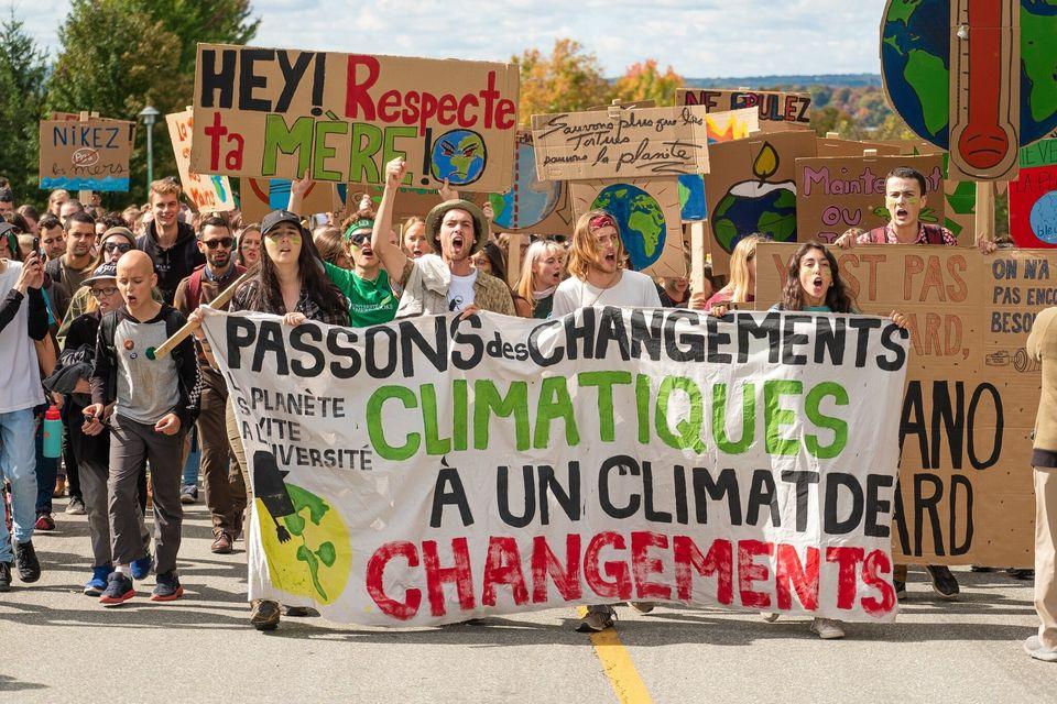 Marche pour le climat à Sherbrooke, 27 septembre