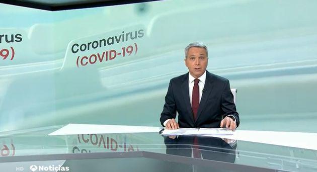 Vicente Vallés este martes en Antena 3 Noticias