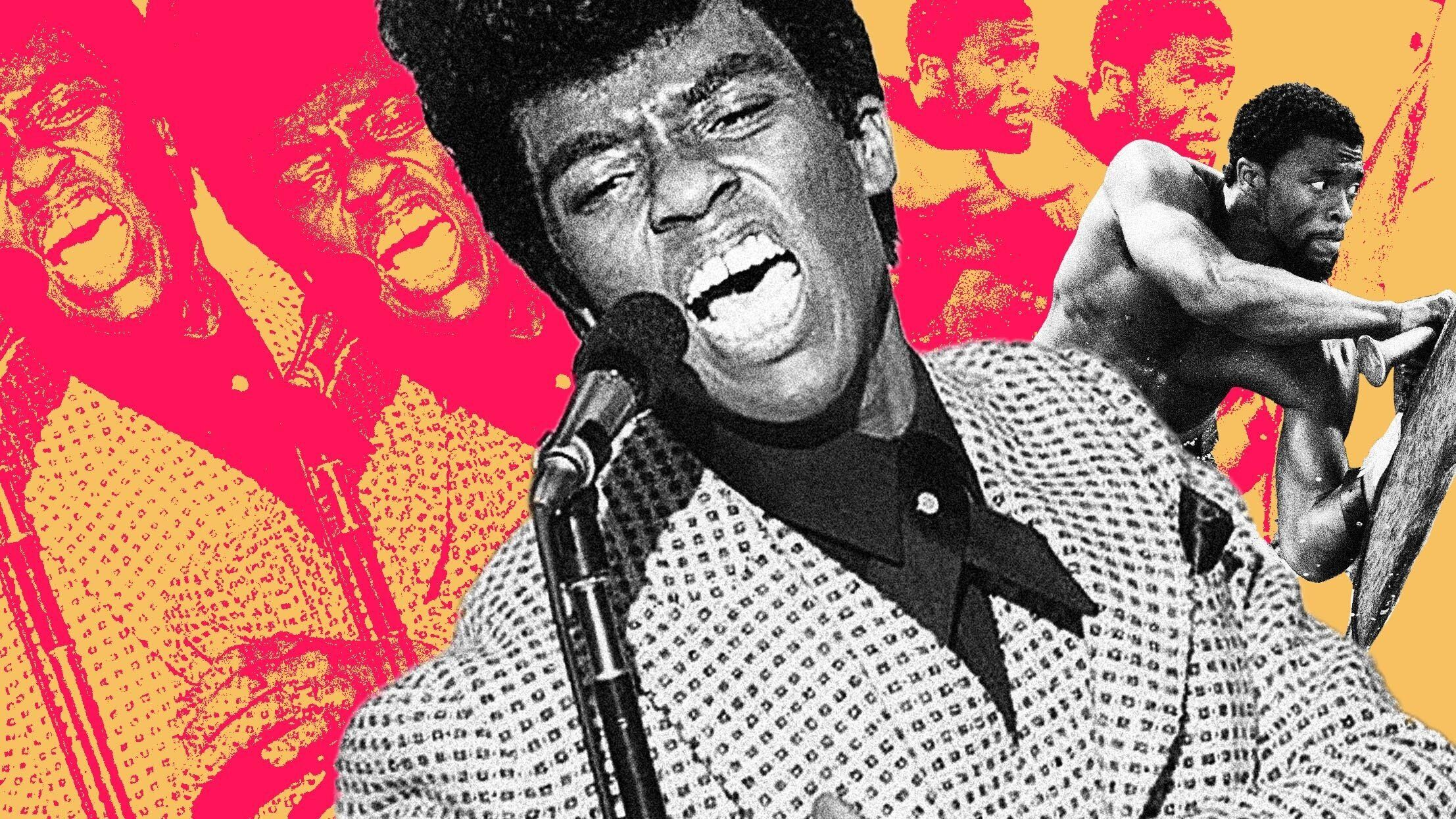 """Chadwick Boseman, seen here in """"Get On Up"""" and """"Black Panther."""""""