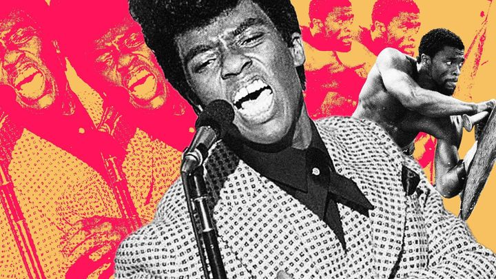 "Chadwick Boseman, seen here in ""Get On Up"" and ""Black Panther."""