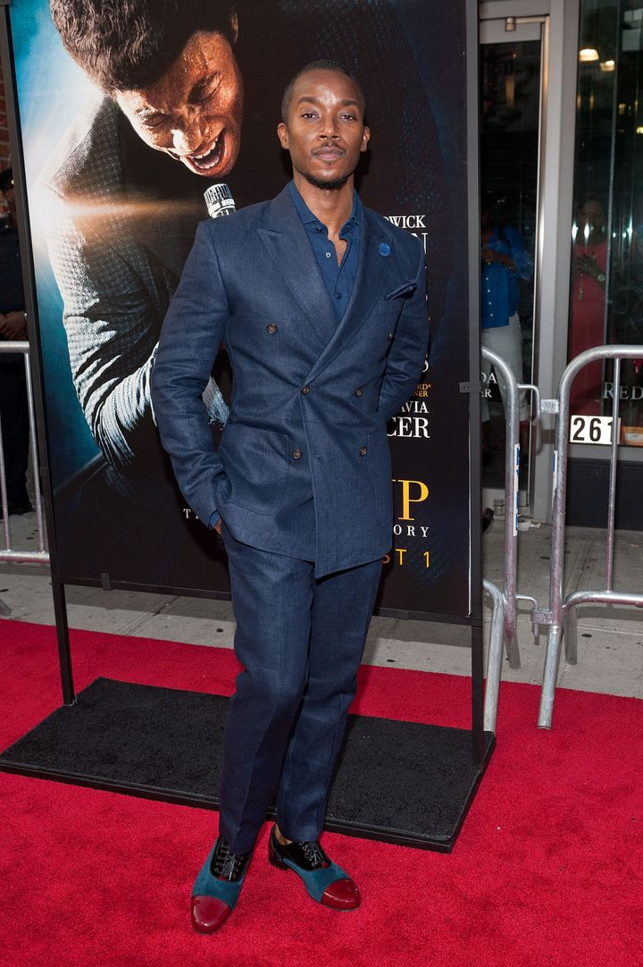 "Aakomon Jones at the ""Get On Up"" premiere in 2014."