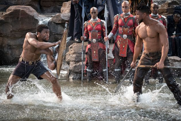 Boseman and Michael B. Jordan at Warrior Falls in