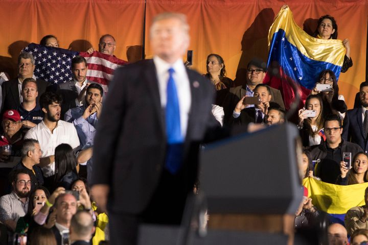 """Donald Trump has ramped up his """"socialism"""" attacks over the last two years, as he's tried to oust Venezuelan President Nicol&"""