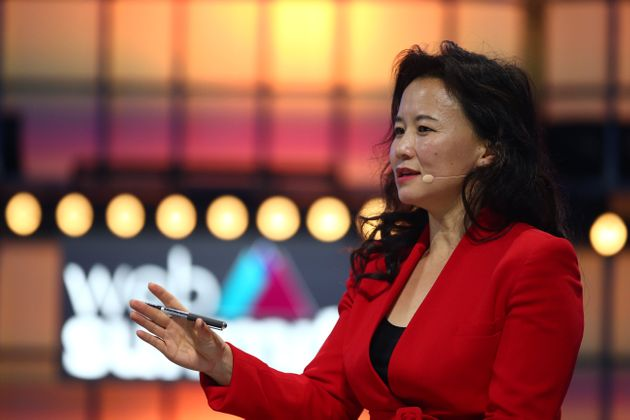 Cheng Lei, Anchor, CGTN Europe, on Centre Stage during day two of Web Summit 2019 at the Altice Arena...