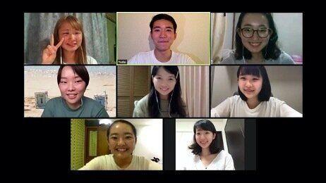「できること会議」運営メンバー8人のミーティングの様子。まだ直接会ったことのないメンバーもちらほら…