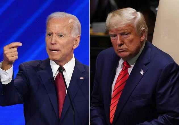 Un montage photo présentant Joe Biden et Donald Trump en septembre