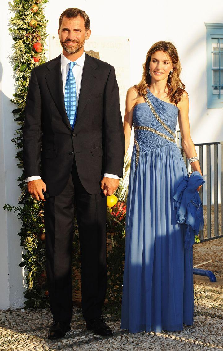 Los reyes en la boda de Nicolás de Grecia y Tatiana Blatnik en Spetses.