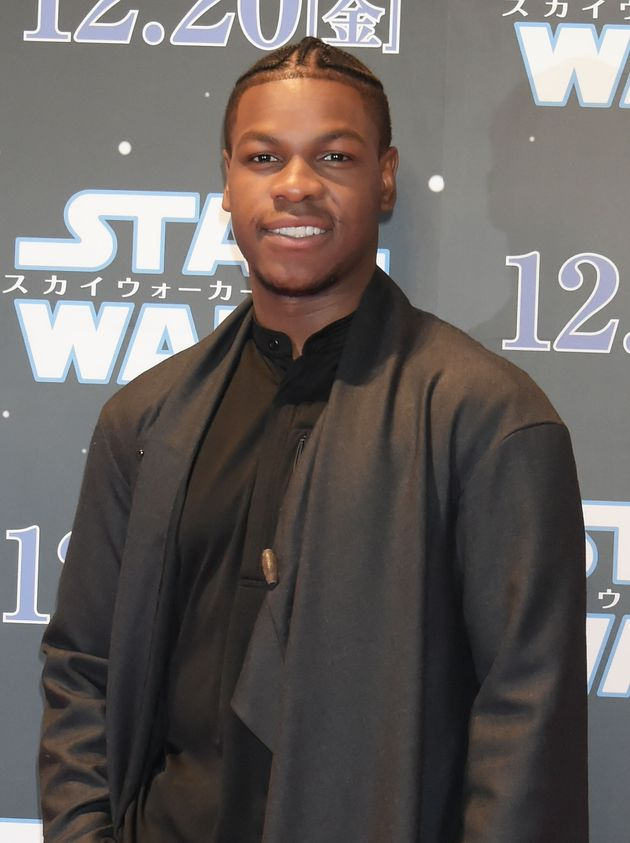 John Boyega at a Star Wars fan event in