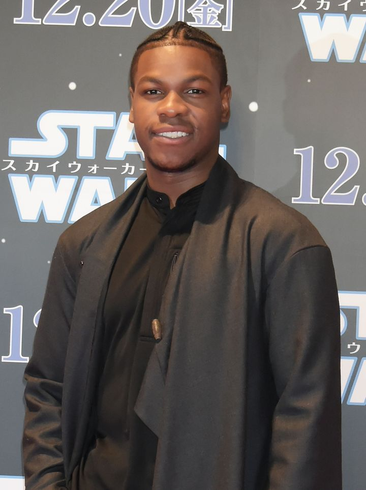 "John Boyega at a ""Star Wars"" fan event in 2019."