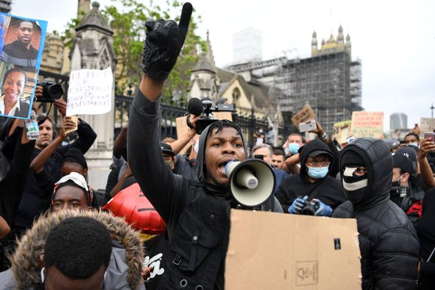 John Boyega at a Black Lives Matter protest in