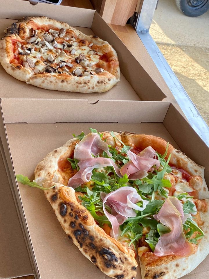 Wood-fired pizzas from 400 Degrees Pizza