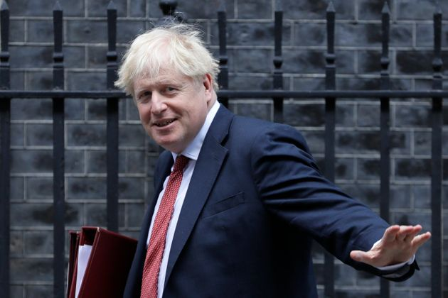 Britain's Prime Minister Boris Johnson leaves Downing Street in