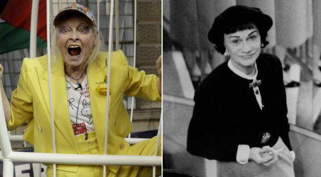 Vivienne Westwood (à gauche) et Gabrielle Chanel (à droite), mises à l'honneur cette...