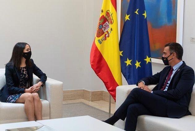 Pedro Sánchez e Inés Arrimadas este miércoles 2 de septiembre en