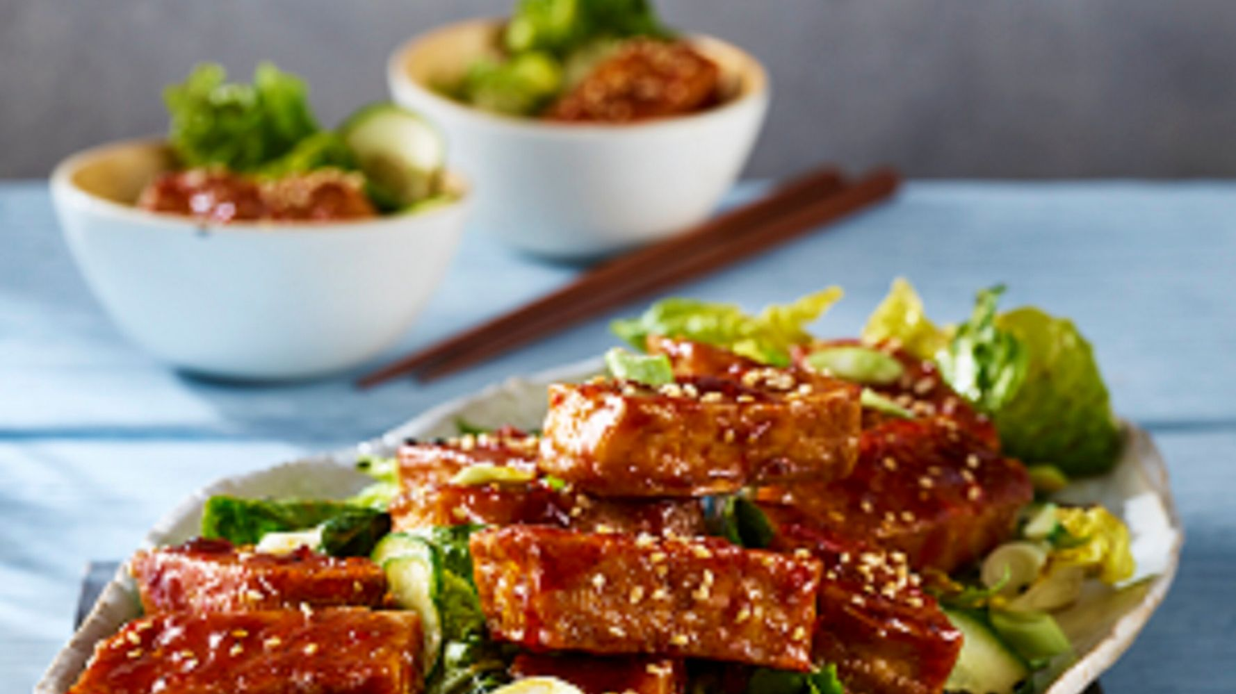 This Crispy Tofu With Spicy Sichuan Glaze Salad Recipe Will Win Over Your Kids