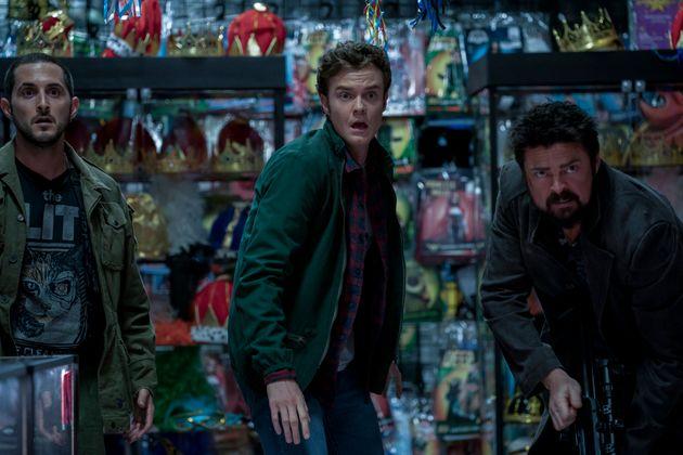 Frenchie (Tomer Kapon), Hughie (Jack Quaid) e Billy Butcher (Karl Urban) em uma das muitas sequências...