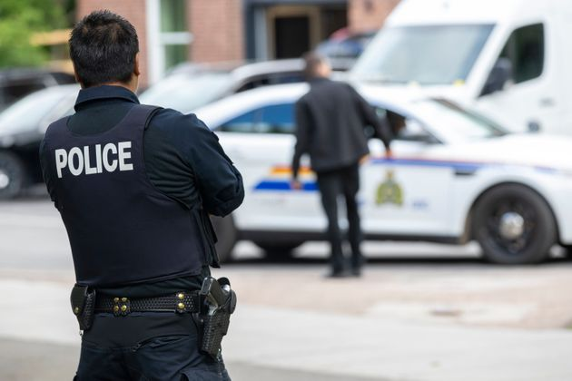The RCMP at Rideau Cottage in Ottawa on June 25,