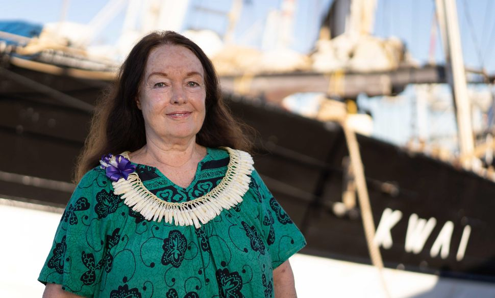 """We are on a roll,"" said Mary Crowly, founder of the Ocean Voyages Institute, of their efforts to clean up the Great Pacific"