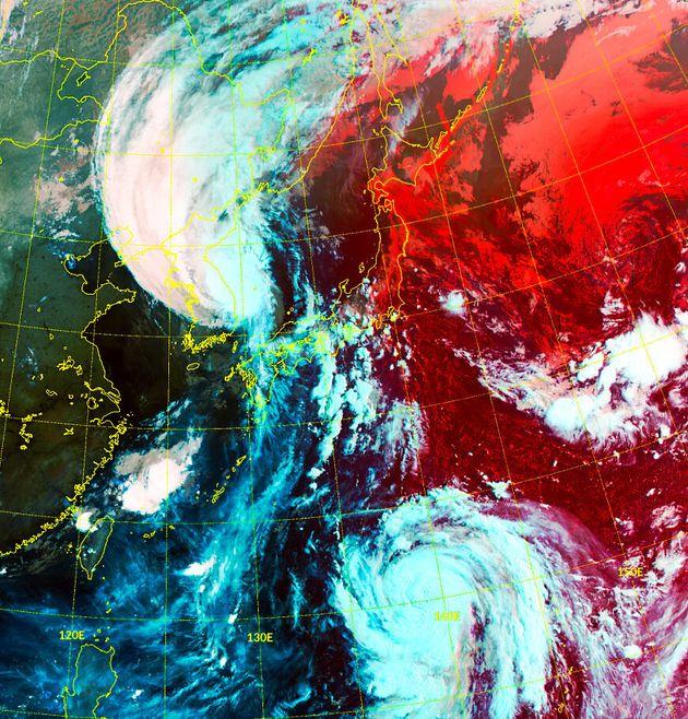 3일 오전 6시10분 기준 천리안위성 2A호로 본 동아시아 RGB 주야간