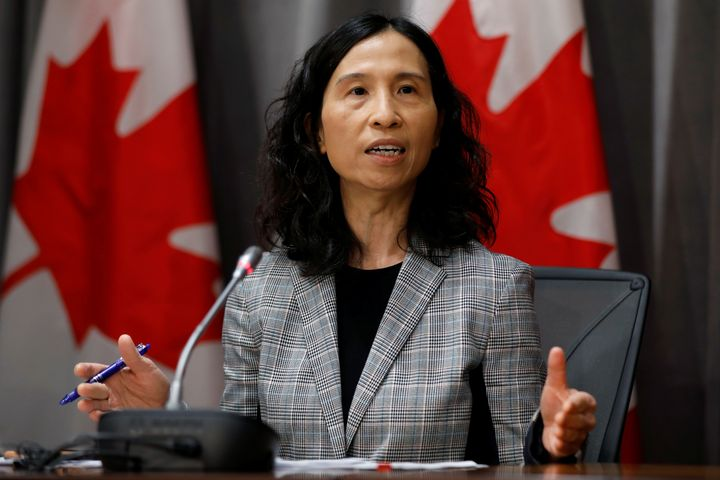 Canada's Chief Public Health Officer Dr. Theresa Tam speaks in Ottawa on March 23, 2020.