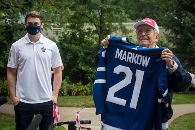 George Markow, a 99-year-old Second World War Veteran, who walked 100 km in a special fundraising effort...