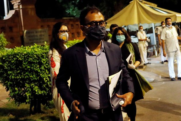 Ajit Mohan, Managing Director of Facebook India, comes out of the Parliament Annexe after his meeting...