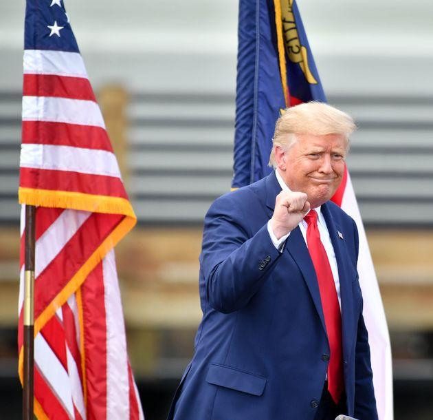 El presidente Trump en Wilmington, Carolina del Norte, el 2 de septiembre de 2020 (Peter Zay/Anadolu...