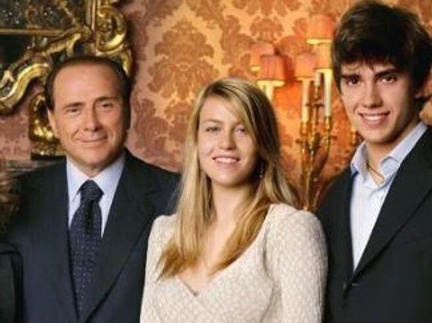 Silvio Berlusconi con i figli Barbara e