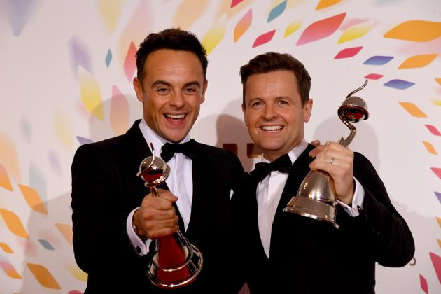 Ant and Dec win the Bruce Forsyth Award at the National Television Awards 2020