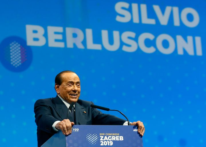 Silvio Berlusconi, shown Nov. 21, 2019, is self-isolating after testing positive for COVID-19.