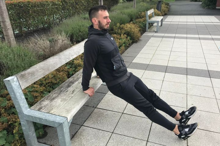 These tricep dips are best completed using a bench