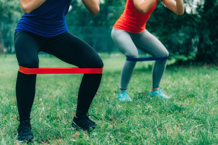 Resistance bands are easily carried and have multiple uses