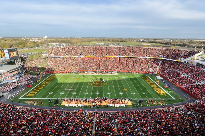 Iowa State's Jack Trice Stadium, pictured during a game last season, won't be hosting spectators for the Cyclones' 2020 seaso
