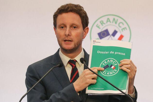Clément Beaune secrétaire d'Etat aux Affaires européenne durant la conférence...