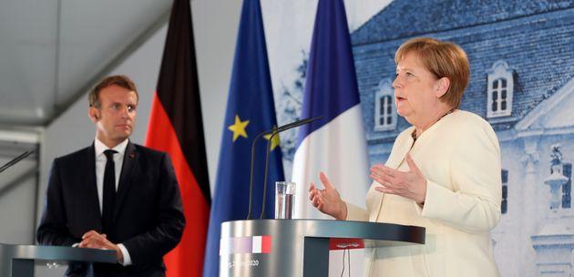Le plan de relance français est très similaire au plan allemand (photo: Emmanuel Macron et Angela Merkel...