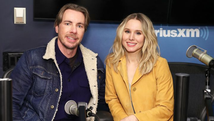 Dax Shepard and Kristen Bell at the SiriusXM Studios in New York on Feb. 25, 2019.