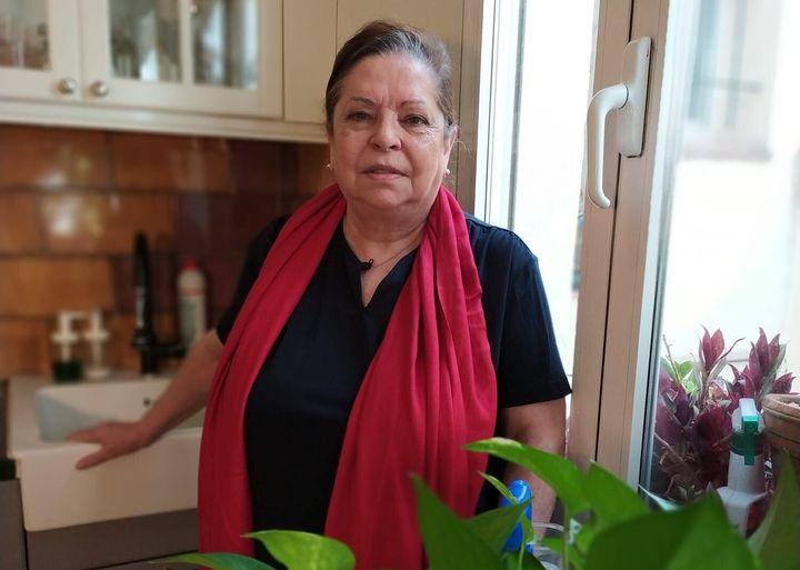 María Martín, enferma de EPOC, lleva seis meses confinada.